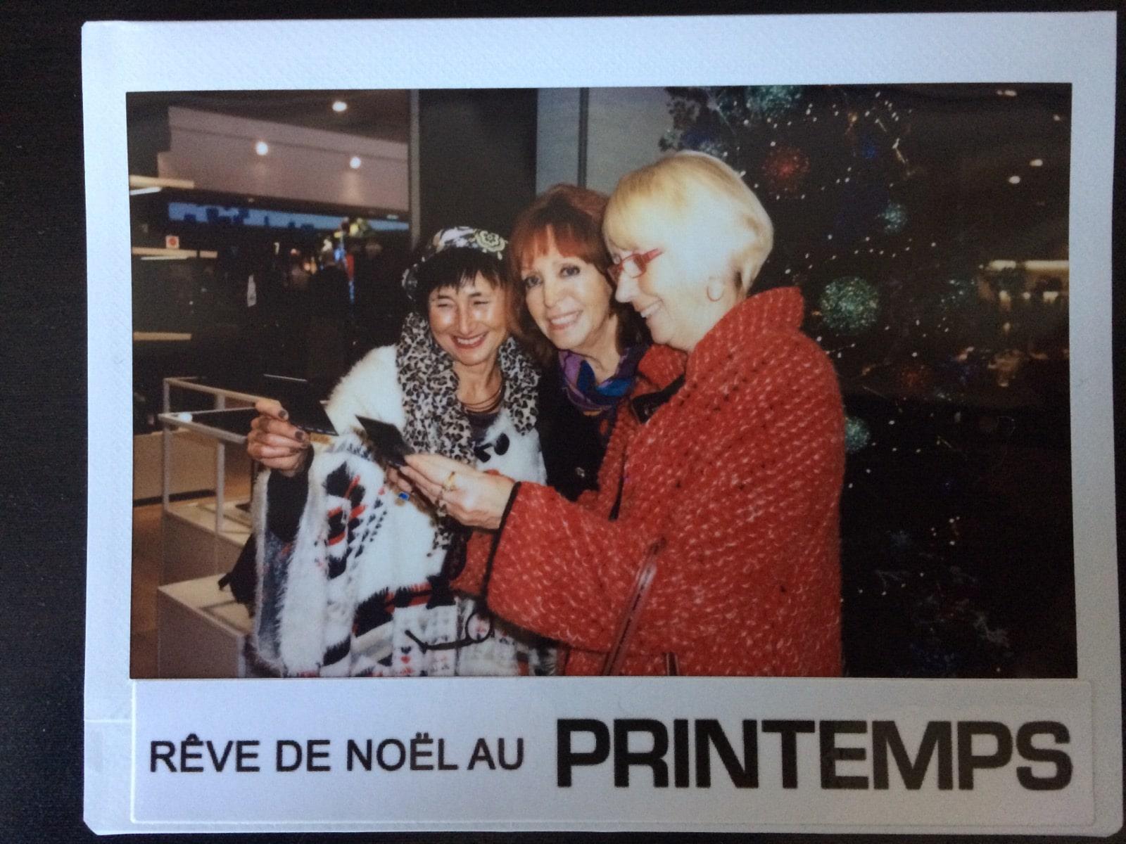 Animation photo polaroid magasin printemps